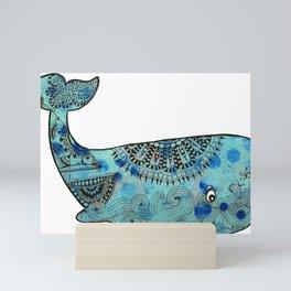 Whale & Minnow Mini Art Print