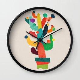 Whimsical Cactus Wall Clock