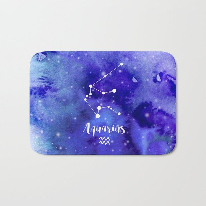 Aquarius Constellation Bath Mat