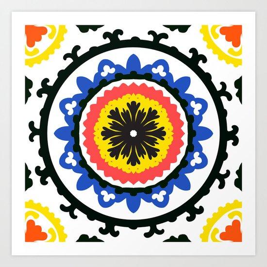 Bold and bright beauty of suzani patterns ver.9 Art Print