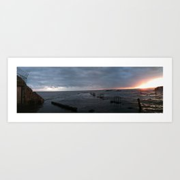 Lower Largo Pier Art Print