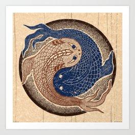 shuiwudáo yin yang mandala Art Print