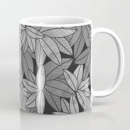 Black & White Leaves By Everett Co Coffee Mug