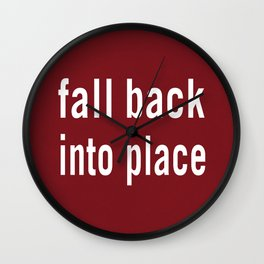 Fall back into place Wall Clock
