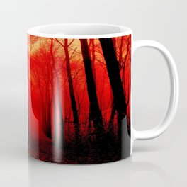 Misty Red Forest Coffee Mug