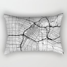 Los Angeles Map White Rectangular Pillow