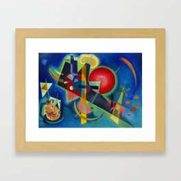 Wassily Kandinsky, New colors Framed Art Print