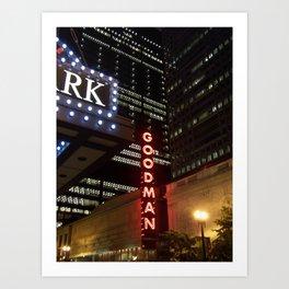 Goodman Theatre Art Print