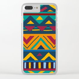 African Style No9 Clear iPhone Case