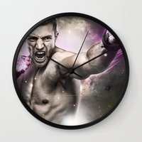 street fighter Wall Clocks featuring Street Fighter by Apothec