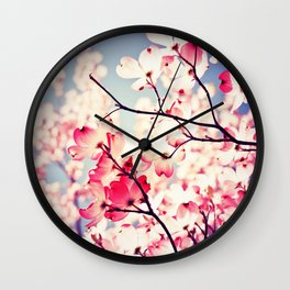 Dialogue With the Sky - Blue tones Wall Clock