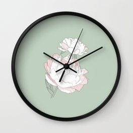 PEONIA - GREEN LILY - Sorbetedelimón Wall Clock
