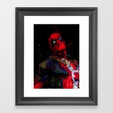 Hero with merc mouth Framed Art Print