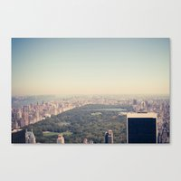 central park Canvas Prints featuring Central Park by Thomas Richter