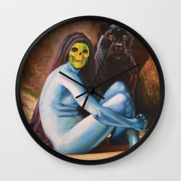 Seated Sorcerer Wall Clock