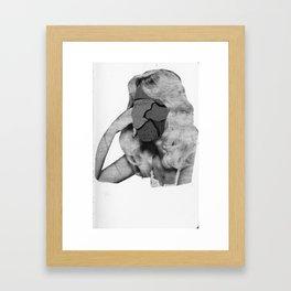 unface Framed Art Print