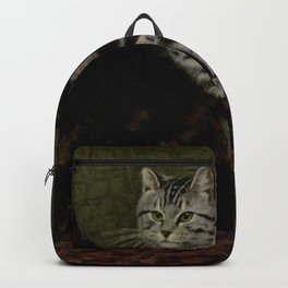 Vintage Short-Haired Cats Painting (1903) Backpack