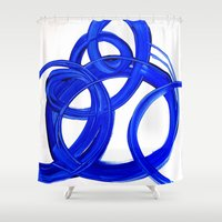 matisse Shower Curtains featuring MATiSSE by Linnea Heide