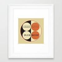 frank underwood Framed Art Prints featuring Underwood by One Little Bird Studio