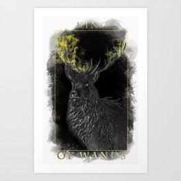 King of Wands Art Print