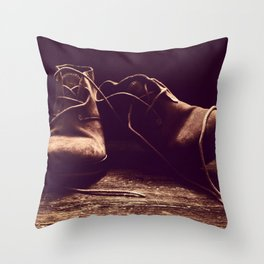 Boots I Throw Pillow
