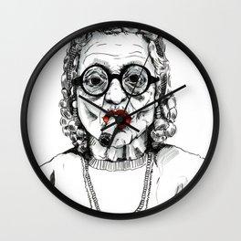 Woman with Cigar Wall Clock