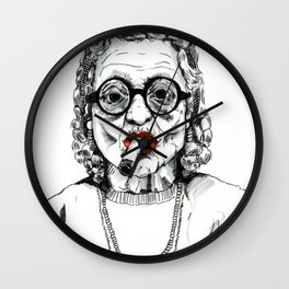 Woman with Cigar Wall Clock