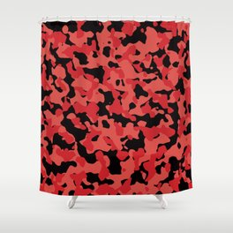 Grenadine Camouflage Shower Curtain