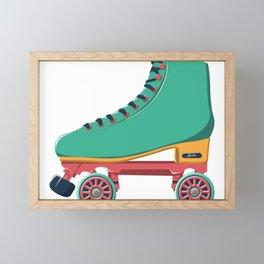old school roller skate Framed Mini Art Print