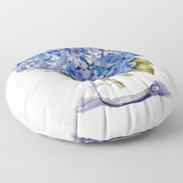 Cape Cod Hydrangea Large Canvas Floor Pillow