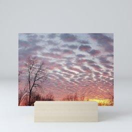 Winter sunset panorama - Hoyt Park, Madison, WI Mini Art Print