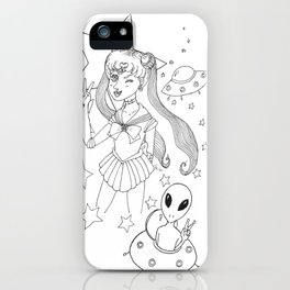 Sailor moon and friends iPhone Case