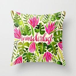 Tropical Wanderlust – Pink & Lime Throw Pillow