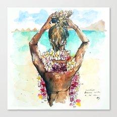 Bora Bora Lei Canvas Print
