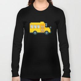 Pixel School Bus Long Sleeve T-shirt