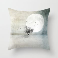 Only the Moon Knows Throw Pillow
