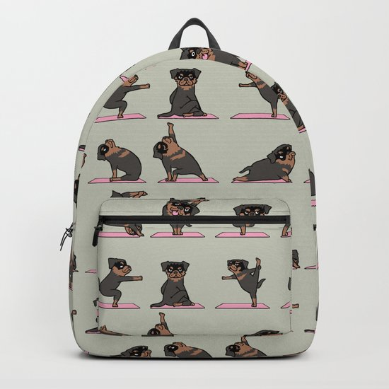 Rottweiler Yoga Backpack