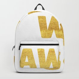 Away We Go in Gold Backpack