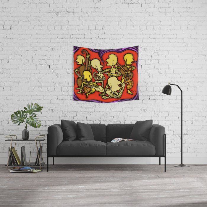 Ancient Melody Wall Tapestry