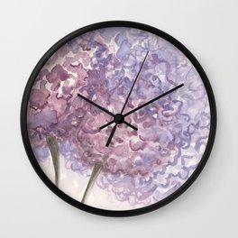 Purple Flower Watercolor Wall Clock