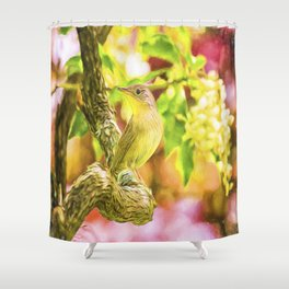 Painted House Wren Shower Curtain