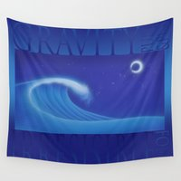 gravity Wall Tapestries featuring Gravity by ZooLN Art
