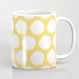 Pale Yellow Asian Moods Ikat Dots Coffee Mug