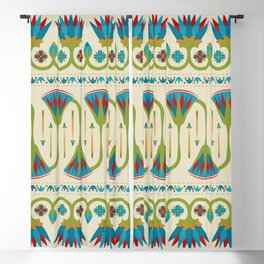Egyptian Floral Border Pattern 2 Blackout Curtain