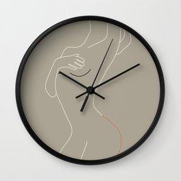 Minimal Line Art Woman Figure II Wall Clock
