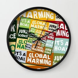 Global Warming Fraud Wall Clock