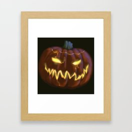 Scary Jack o'lantern Framed Art Print