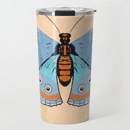 Baby Blue Butterfly Travel Mug