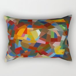 Otto Freundlich Rosace ii Abstract Acrylic Painting Modern Geometric Colorful Art Pattern Rectangular Pillow
