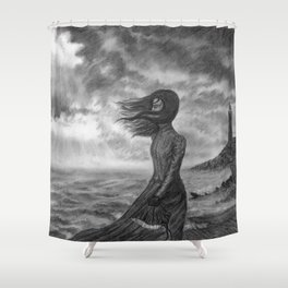 The Lighthouse Keeper's Daughter Shower Curtain